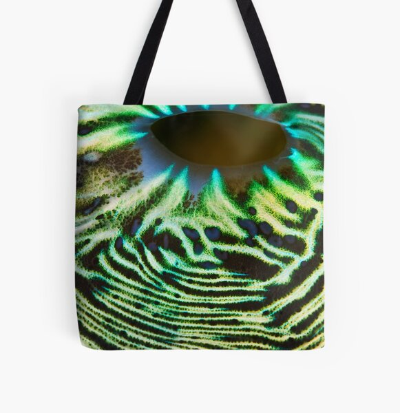 Green lava flow All Over Print Tote Bag