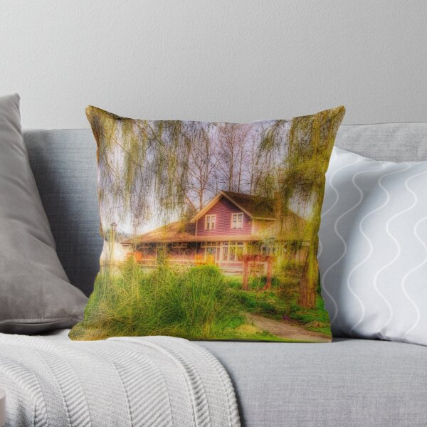 Port Moody Train Station Museum Throw Pillow