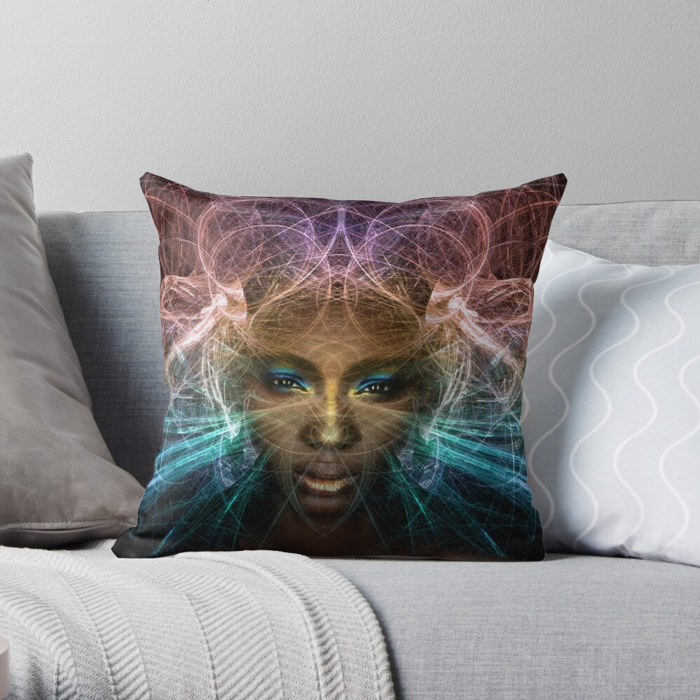 Isis goddess of rebirth and magic Throw Pillow