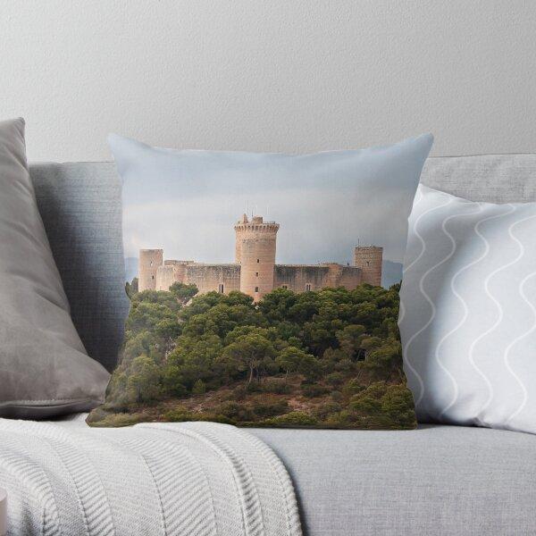 Castillo de Bellver  Throw Pillow