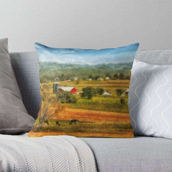 Country - Cows Grazing Throw Pillow