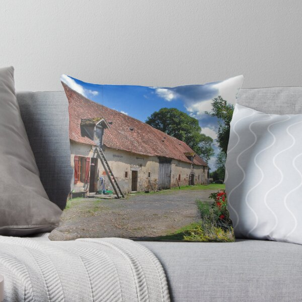 A French Farm Throw Pillow