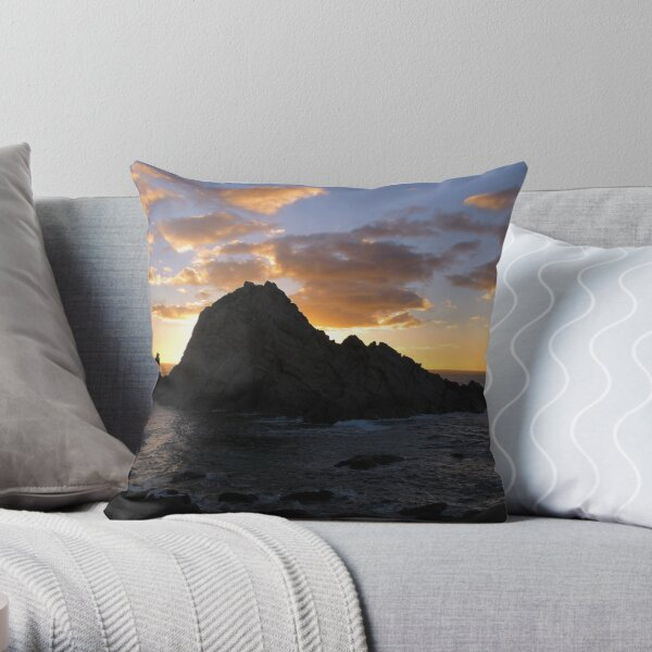 Sugarloaf Rock Throw Pillow