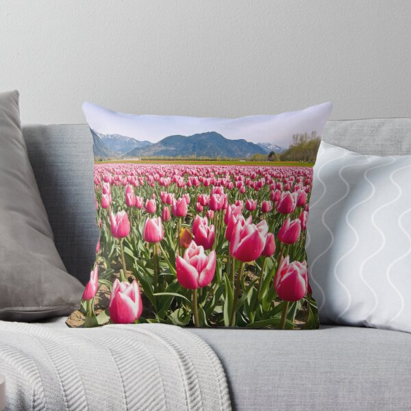 Tulip Farm Throw Pillow