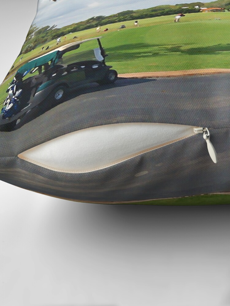 Alternate view of The Golf Car Throw Pillow