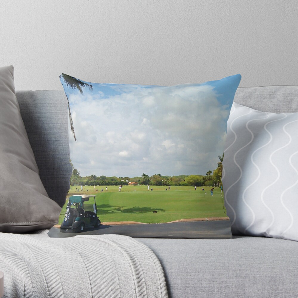The Golf Car Throw Pillow