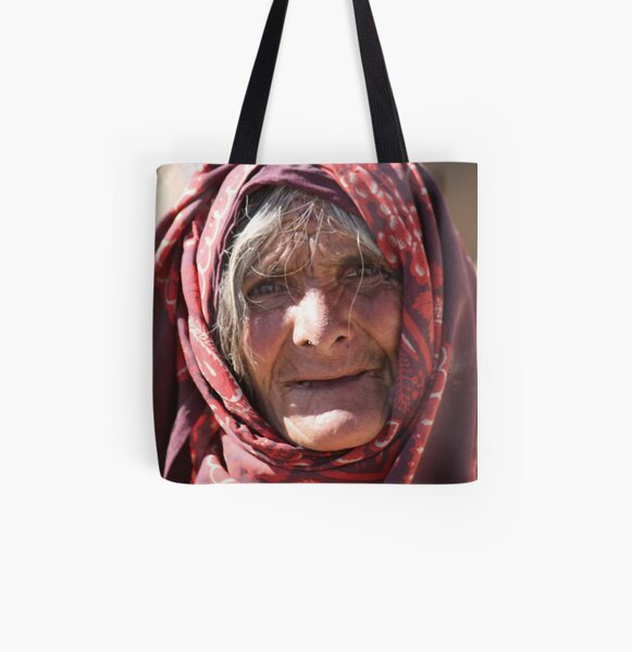Old Woman (afghanistan) All Over Print Tote Bag