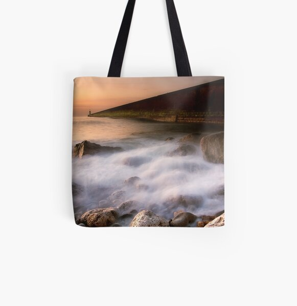 Tynemouth Pier All Over Print Tote Bag