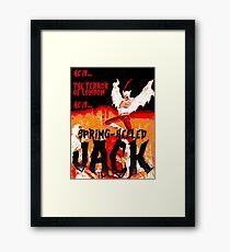 Spring Heeled Framed Print