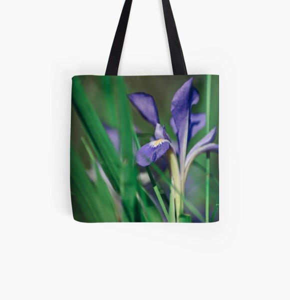 Wild Iris All Over Print Tote Bag