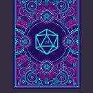 «Cyberpunk Polyhedral D20 dados Steampunk» de pixeptional