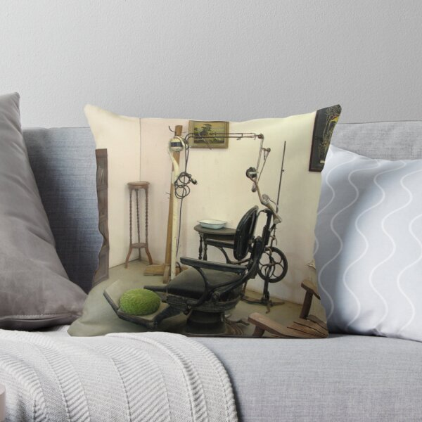 Old Time Dental Office Throw Pillow
