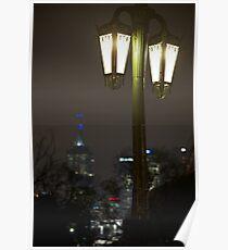 City Street Lights Poster