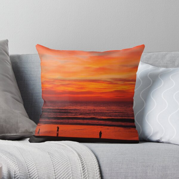 Sunrise and Silhouettes Throw Pillow