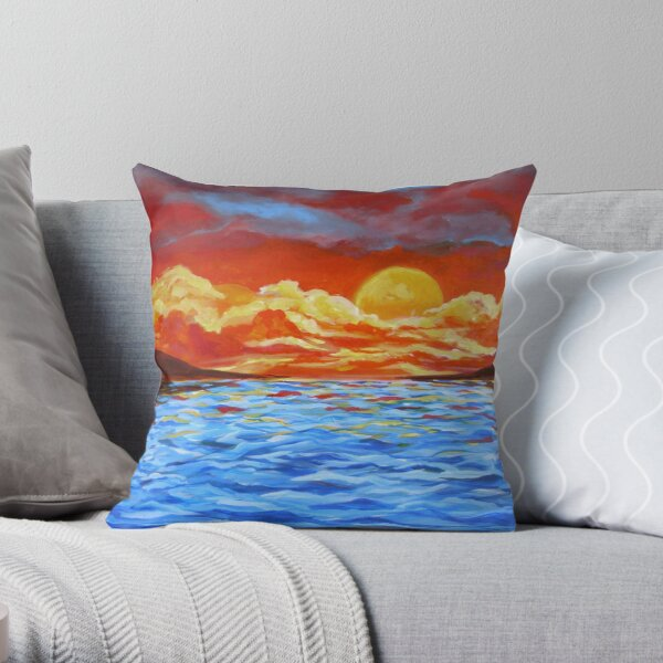 Sunset Siesta Throw Pillow