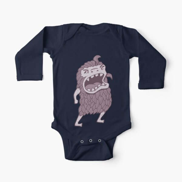 Sasquatch knows his manners Long Sleeve Baby One-Piece