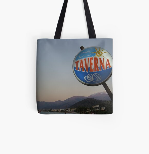 Taverna All Over Print Tote Bag