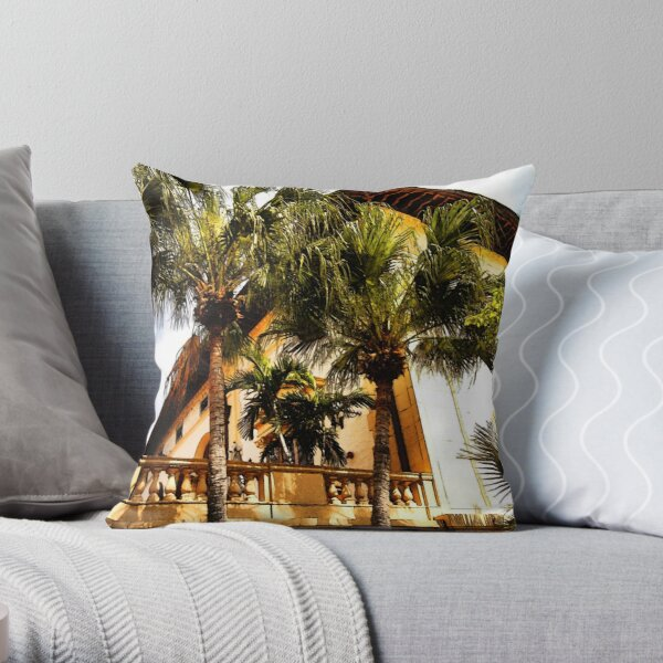 Palms and Coconut Trees Throw Pillow
