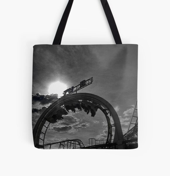 Rollercoaster love.... All Over Print Tote Bag