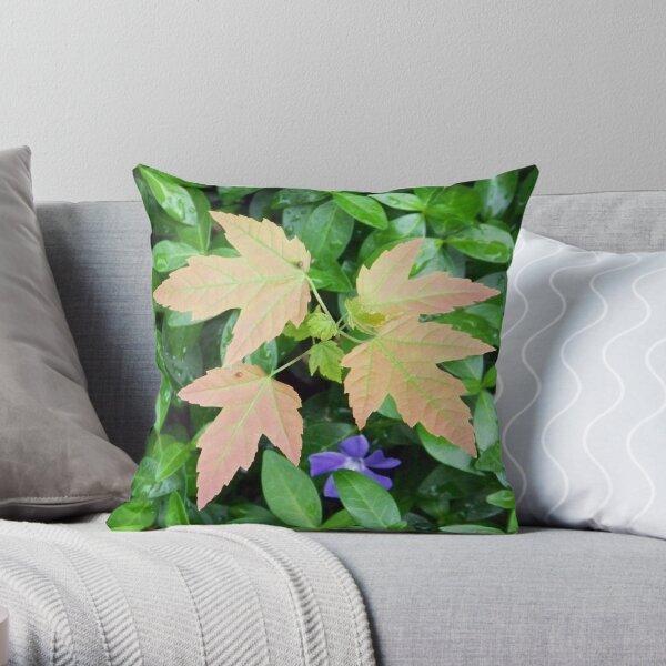 Uninvited Garden Guest Throw Pillow