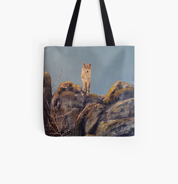 """Lone Wolf""  All Over Print Tote Bag"