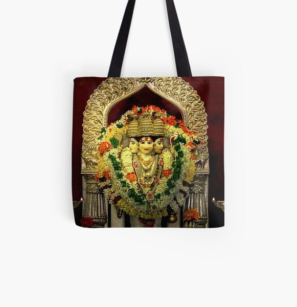 The Deities of India - Lord Dattatreya All Over Print Tote Bag