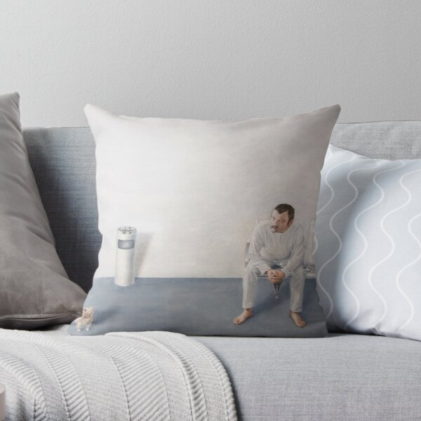 The Waiting-Room Throw Pillow