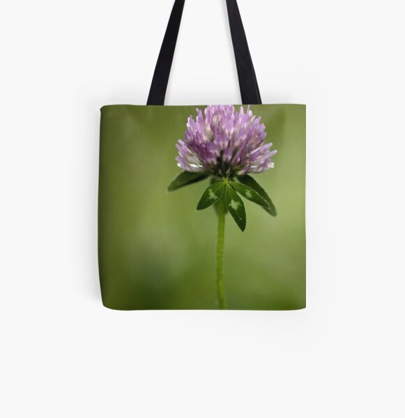 Clover in Springtime All Over Print Tote Bag