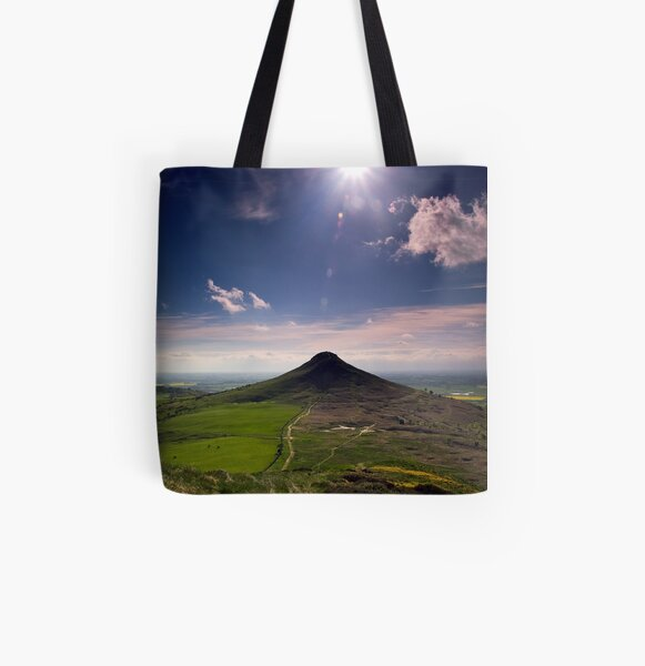 Roseberry Topping All Over Print Tote Bag