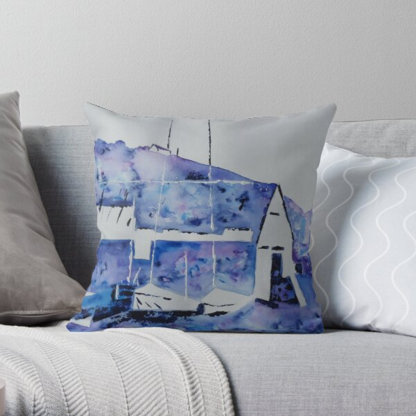Memories of the old boatshed Throw Pillow