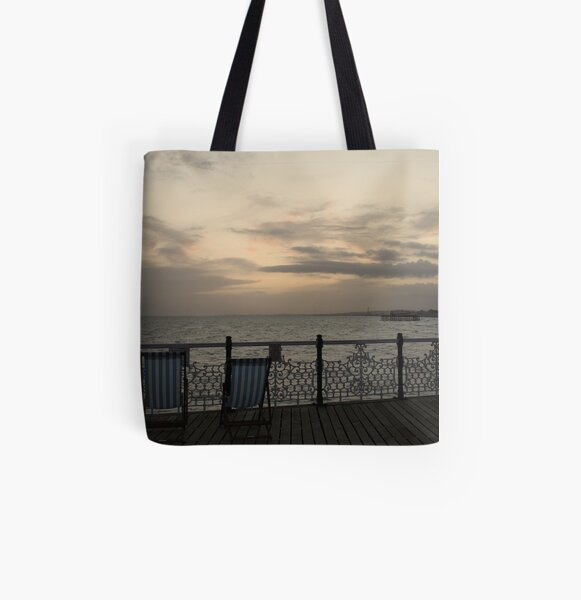 Evening on the Pier All Over Print Tote Bag
