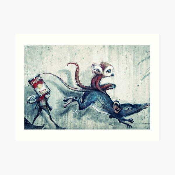 Rat race Art Print