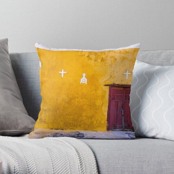 Convent at Izamal Detail Throw Pillow