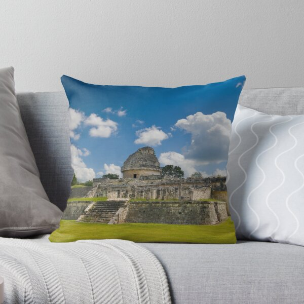 El Caracol, The Observatory at Chichén Itzá Throw Pillow
