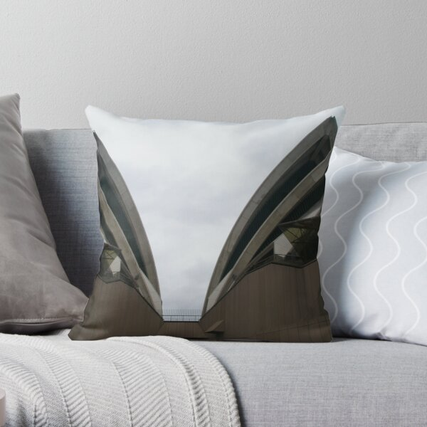 "The Layered ""Wings"" of the Opera House-close up, Sydney Throw Pillow"