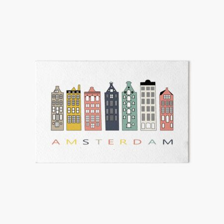 Amsterdam colorful canal houses Art Board Print