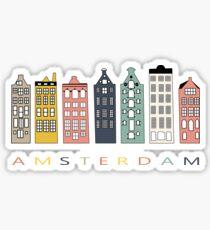 Bunte Kanalhäuser Amsterdams Sticker