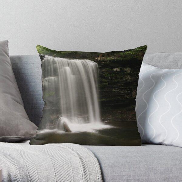 Harrison Wright Waterfalls-Ricketts Glen State Park Throw Pillow