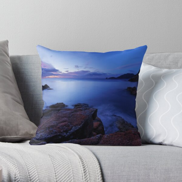 Sleepy Bay Dawning Throw Pillow
