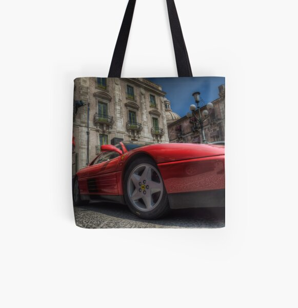 Ferrari Testarossa All Over Print Tote Bag