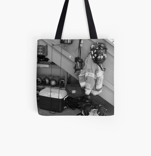 Still Life, Fire Fighter All Over Print Tote Bag