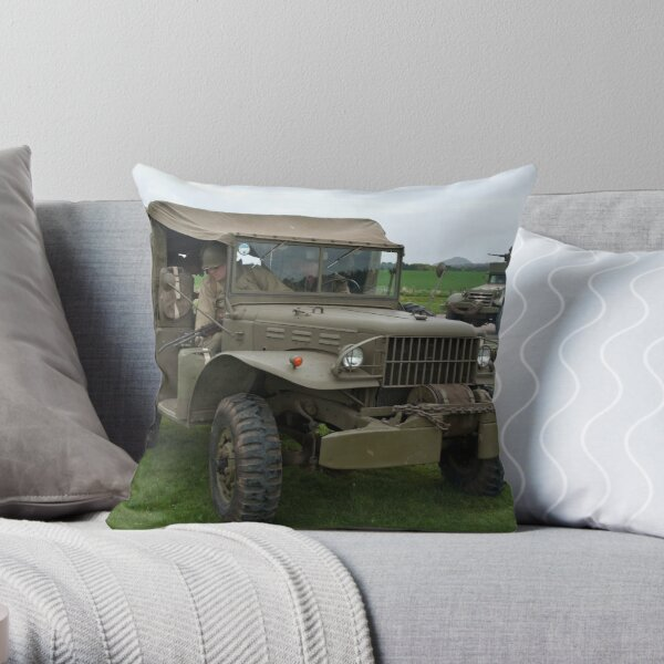 Dodge Weapons Carrier Throw Pillow