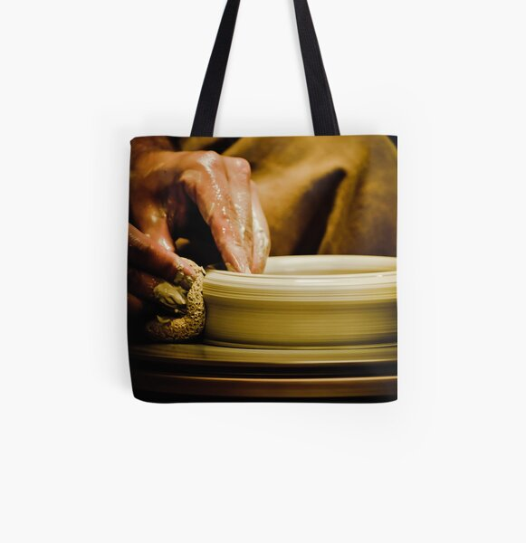 Wheel Turned Pottery All Over Print Tote Bag