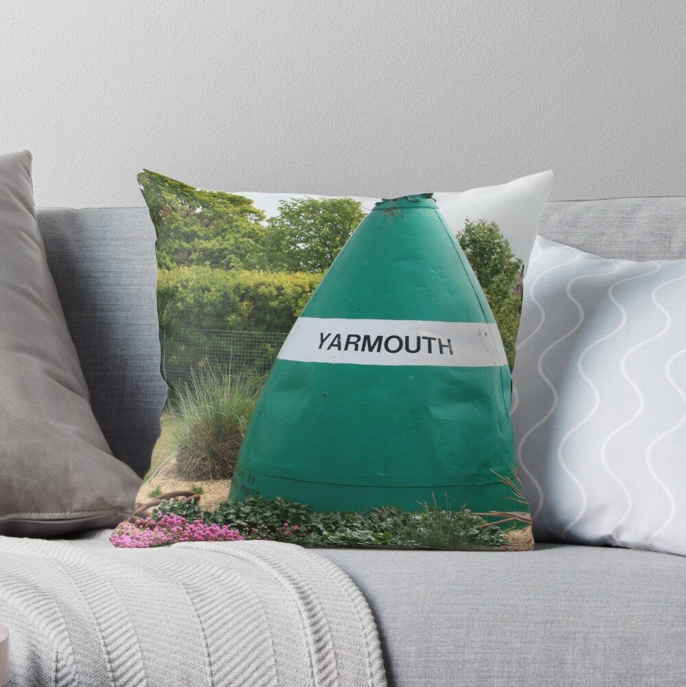 The Lost Buoy Throw Pillow