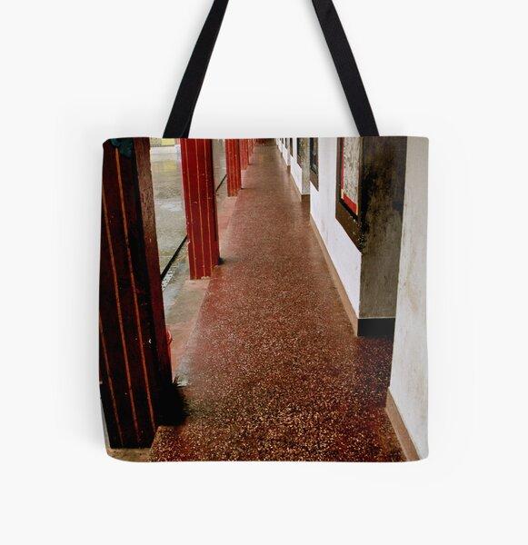 gompa path. rumtek, sikkim All Over Print Tote Bag