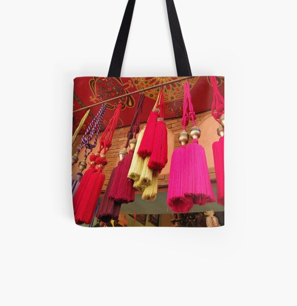 Tassels, Marrakech All Over Print Tote Bag