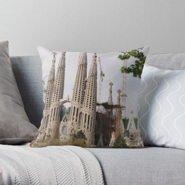 Sagrada Familia - Barcelona Throw Pillow