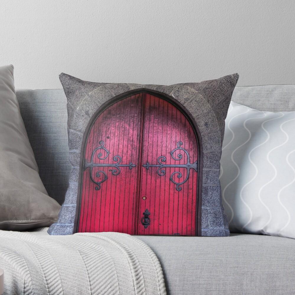 Medieval  Door Throw Pillow