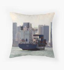 Cargo Ship Throw Pillow