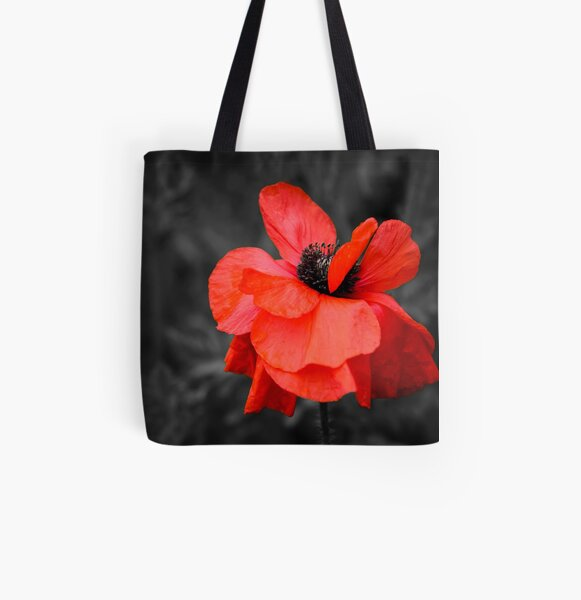 I have a thing for flowers... not very original, I know, but I don't care... This one wore a pretty dress too ;) All Over Print Tote Bag